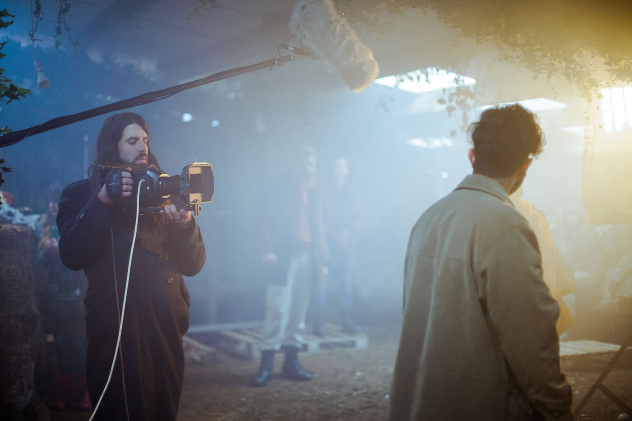 Film Contenders showing cameraman filming